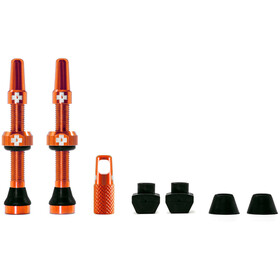 Muc-Off MTB & Road Tubeless Valve Kit 60mm, orange